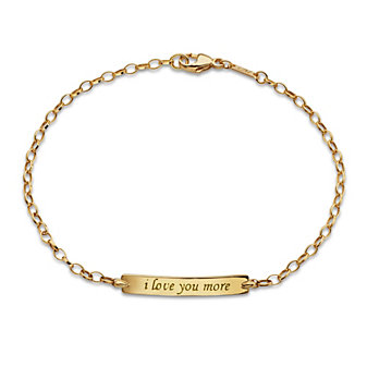 "Monica Rich Kosann 18K Yellow Gold ""I Love You More"" Poesy Bracelet"