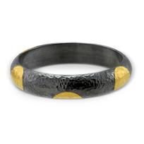 24K_and_Sterling_Silver_Polka_Dot_Bangle_Bracelet