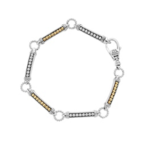 Lagos_Caviar_Superfine_Sterling_Silver_&_18K_Yellow_Gold_Beaded_Link_Bracelet