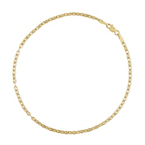"""14K_Yellow_Gold_Anchor_Link_Anklet,_10"""""""