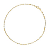 """14K_Yellow_and_White_Gold_Ankle_Bracelet,_10"""""""