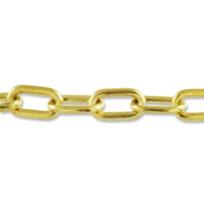"18K_Yellow_Gold_Oval_Link_Bracelet,_7_1/2"""