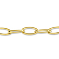 14K_Yellow_Gold_High_Polish_Oval_Link_Bracelet,_8.5""