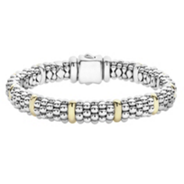 Lagos_Sterling_Silver_&_18K_Yellow_Gold_Station_Signature_Caviar_Beaded_Bracelet