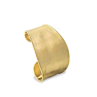 marco bicego 18k yellow gold lunaria wide cuff bracelet