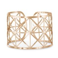 14K_Rose_Gold_Roza_X_Pattern_2_Row_Cuff_Bangle_Bracelet