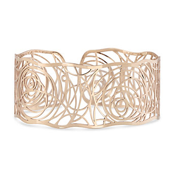 14K Rose Gold Roza Swirl Cuff Bracelet
