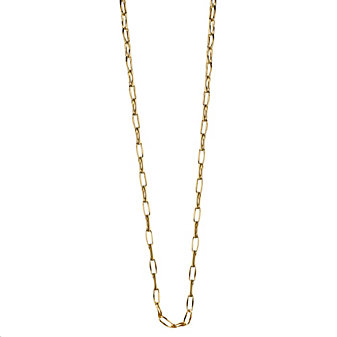 "Monica Rich Kosann 18K Yellow Gold Oval Link Chain, 17"""