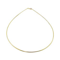"""14K_Yellow_Gold_1.2mm_Round_Omega_Necklace,_16"""""""