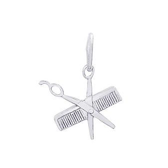 Rembrandt Sterling Silver Comb & Scissors Charm
