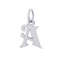 "Rembrandt_Sterling_Silver_Initial_""A""_Charm"
