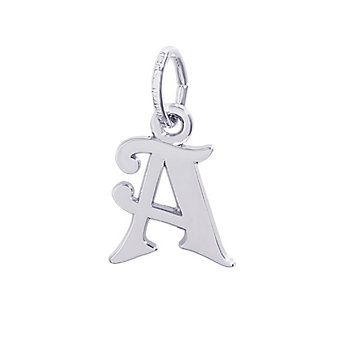 """Rembrandt Sterling Silver Initial """"A"""" Charm"""