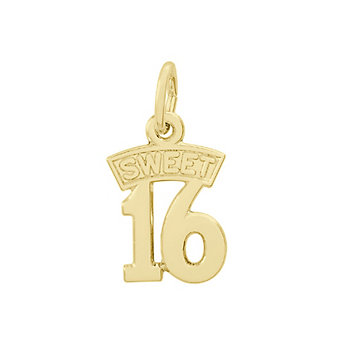 Rembrandt 14K Yellow Gold Sweet 16 Charm
