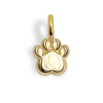 Alex Woo 14K Yellow Gold Mini Addition Paw Charm
