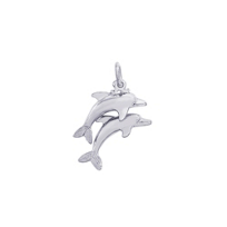 Rembrandt_Sterling_Silver_Dolphins_Charm