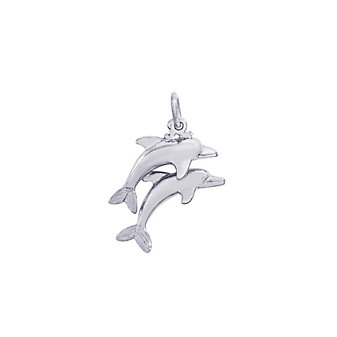 Rembrandt Sterling Silver Dolphins Charm