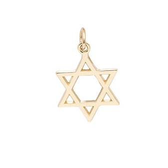 Rembrandt 14K Yellow Gold Star of David Charm