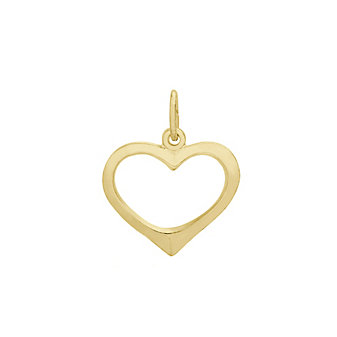 Rembrandt 14K Yellow Gold Open Heart Charm