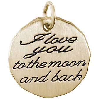 Rembrandt 14K Yellow Gold Moon and Back Charm