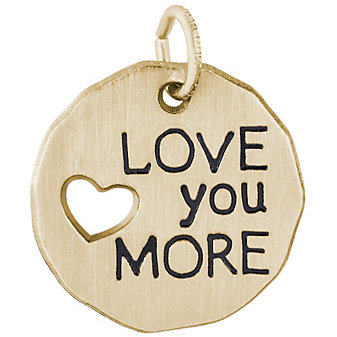 Rembrandt 14K Yellow Gold Love You More Charm