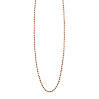Alex_Woo_14K_Rose_Gold_Disco_Bead_Chain,_18""