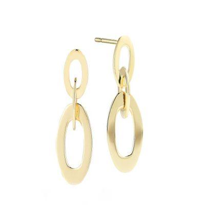 "Roberto_Coin_18K_Yellow_Gold_Chic_&_Shine_Earrings,_1"""