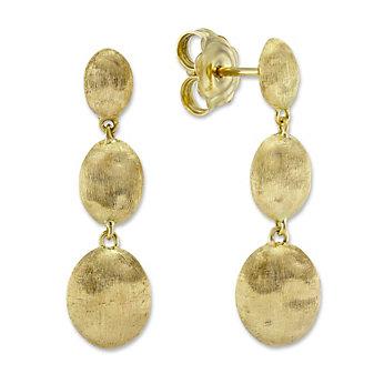 Marco Bicego 18K Yellow Gold Oval Bead Dangle Siviglia Earrings