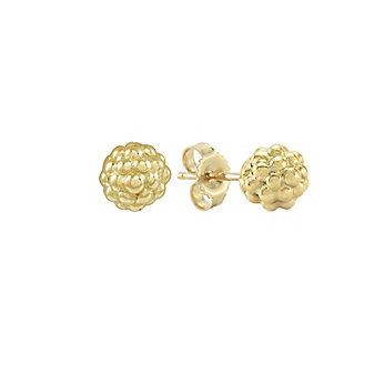 Lagos 18K Yellow Gold Caviar Gold Beaded Stud Earrings