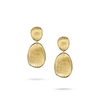 Marco Bicego 18K Yellow Gold Lunaria Double Dangle Earrings
