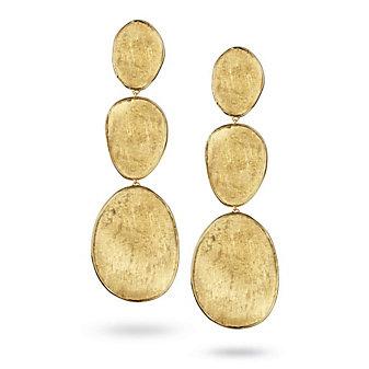 Marco Bicego 18K Yellow Gold Lunaria Triplet Dangle Earrings