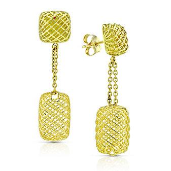 Roberto Coin 18K Yellow Gold Silk Rectangular Drop Earrings