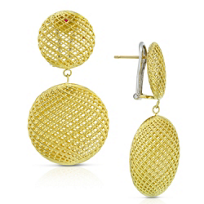 Roberto_Coin_18K_Yellow_Gold_Silk_Circular_Dangle_Earrings