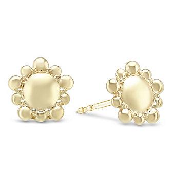 Anzie 14K Yellow Gold Micro Dew Drop Earrings