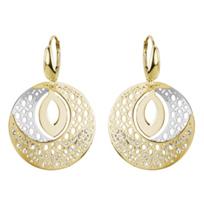 14K_Yellow_&_White_Gold_Honeycomb_Drop_Earrings