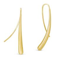14K_Yellow_Gold_Long_Teardop_Earrings_with_Wire_Hooks