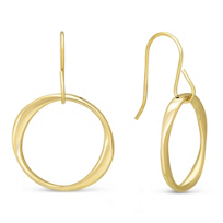 14K_Yellow_Gold_Small_Twisted_Open_Circle_Drop_Earrings