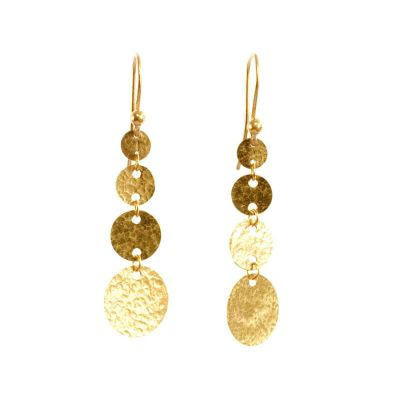 Gurhan 24K Yellow Gold Lush Dangle Earrings
