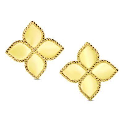Roberto Coin 18K Yellow Gold Princess Flower Earrings