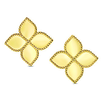 Roberto Coin 18K Yellow Gold Princess Flower Earrings