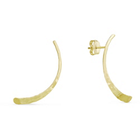 14K_Yellow_Gold_Hammered_Half-Moon_Climber_Earrings
