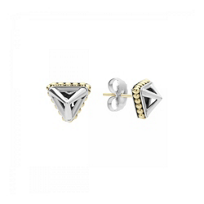 lagos_sterling_silver_&_18k_yellow_gold_pyramid_stud_earrings