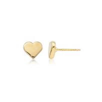 14K_Yellow_Gold_Flat_Heart_Stud_Earrings,_8mm