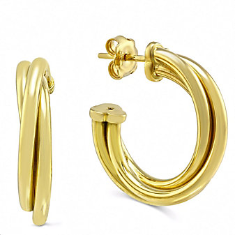 Roberto Coin 18K Yellow Gold Classic Half Hoop Earrings