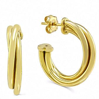 Roberto Coin 18K Yellow Gold Classic Half Hoop Earrings