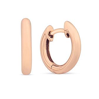 14K Rose Gold Petite Hoop Earrings