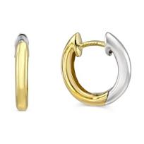 14K_Yellow_and_White_Gold_Petite_Hoop_Earrings