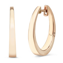 14K_Rose_Gold_Round_Tapered_Hoop_Earrings