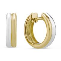 14K_White_&_Yellow_Gold_Two-Tone_Double_Row_Hinged_Hoop_Earrings