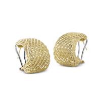 Roberto_Coin_18K_Yellow_Gold_Silk_Dome_Hoop_Earrings