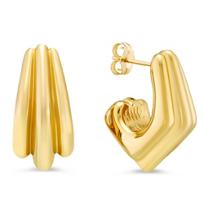 14K_Yellow_Gold_Three_Section_J_Hoop_Earrings